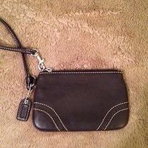 Coach Dark Brown Leather Soho Skinny Wristlet Wallet Photo