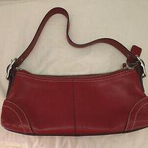 Coach Dark Red Purse Handbag Small Photo