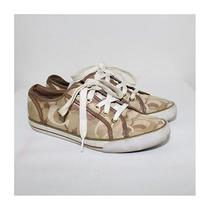 Coach Dee Ladies Signature Brown Sneakers (Size 8b) Photo
