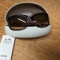 Coach Delphi Tortoise Sunglasses Womens Brown Great Condition Photo