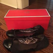 Coach Delphine Flats Women's Shoes Black Textile Ballet Size 8.5 M   Photo
