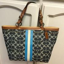 Coach Denim and Leather Tote Photo