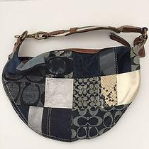 Coach Denim Patchwork Shoulder Bag Photo