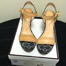 Coach Denim Wedge Sandals 6.5 Photo