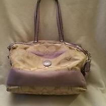 Coach Diaper Bag  Violet   Light Purple Photo