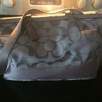 Coach Diaper Bag With Matching Change Purse Used Periwinkle  Photo