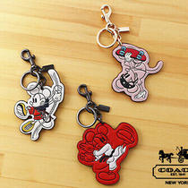 Coach Disney Sports Mickey Mouse Bag Charm 3915 Key Ring Small Gift Women Music Photo