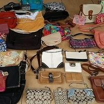 Coach Dooney and Bourke and Other Designer Handbags/wallets (Lot of 38 Items) Photo