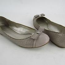 Coach Dorie Metallic Tan Leather Slip on Ballet Flats Womens Size 8.5m Pre Owned Photo