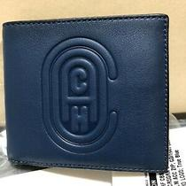 Coach Double Billfd Men Wallet 76235 True Blue Retail 150 Photo