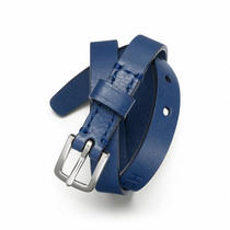 Coach Double Wrap Leather Bracelet Style F63750 Sv/blue Photo