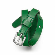 Coach Double Wrap Leather Bracelet Style F63750 Sv/green Photo