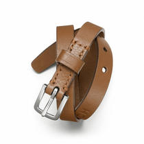 Coach Double Wrap Leather Bracelet Style F63750 Sv/saddle Photo