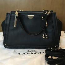 Coach Dreamer 21 Black Leather Crossbody Satchel Handbag Pre-Loved Beautiful  Photo