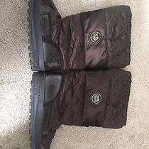 Coach Drexel Quilted Brown Patent Leather Winter Boots Womens Size 8b A7274 Photo