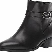 Coach Dylan Horse and Carriage Bootie Black Leather Size 12.0 Bzr3 Photo