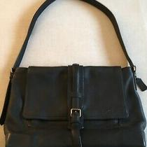 Coach E1373-70949 Bleecker Messenger Bag Crossbody in Black Pebbled Leather  Photo