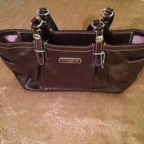 Coach East West Medium Gallery Tote Brown Leather Handbag 15147 Photo