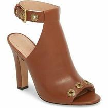Coach Eddison 102 Heel Sandals Womens Open Toe Leather Mule Booties Lion Size 11 Photo