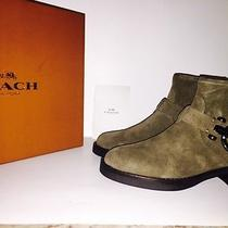Coach Eldridge Suede Size 5.5 Fatigue Sold Out in Stores Photo