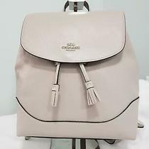 Coach Elle Backpack Purse Grey Birch Pebble Leather F72645 Nwt Photo