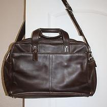 Coach Embassy Leather Briefcase/computer Bag Case Brown Photo