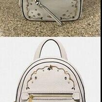 Coach Embellished Backpack White Mini Photo