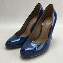Coach Enamel 35.5 Size 35.5 Navy Fashion Heels 517 From Japan Photo