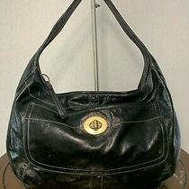 Coach Ergo Black Patent Leather Hobo Shoulder Carry-All Tote Purse Bag 11009 Photo