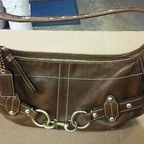 Coach Ergo Hampton Brown Studded Belted Leather Hobo Legacy Shoulder Bag 11261 Photo