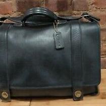 Coach Essex Briefcase 5274 Black Leather Laptop Messenger Shoulder Bag 16 Photo