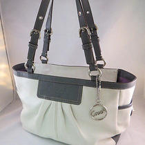 Coach Est. 1941  White Leather Pleated Gallery Tote Bag Purse F13759 Retail 398 Photo