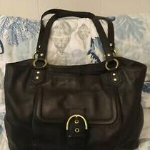 Coach Euc Campbell Brown Leather Hobo Tote Bag F24961 Photo