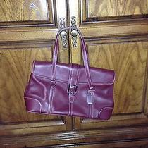 Coach Euc  Leather Burgundy Hampton Satchel Handbag Purse 9268 278  Photo
