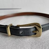 Coach Expresso Womens Vintage  8528 Blue Leather  Belt Size Small Photo