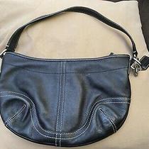 Coach F 043-4283 Soho Small Black Leather Hobo Shoulder Bag Purse - Barely Used Photo