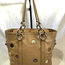 Coach F09763 Brown Multicolor Polka Dot Lunch Gallery Tote Bag Satchel Photo