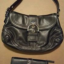 Coach F10910 Soho Black Leather Buckle Hobo Purse Handbag Shoulder Bag  Wallet Photo