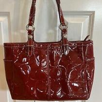 Coach F15246 Red Patent Leather Tote Purse Photo