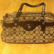 Coach F16542 Penelope Signature Satchel Bag Khaki Photo