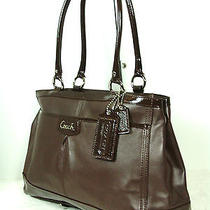 Coach F19728 Parker Leather Carryall Mahogany   Nwt   Amazing Bag      1156 Photo