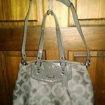 Coach F20049 Ashley Dotted Op Art Carryall Bag Shoulder Bag Purse Gray Satchel Photo