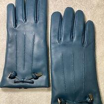 Coach F20887 Womens Gloves - Dark Teal - Blue Photo