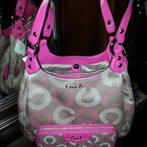 Coach F21920 Ashley Dotted Op Art Hobo With Wallet Combo Set Photo