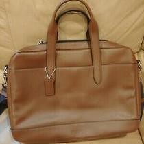 Coach F22529 Men's Hamilton Leather Briefcase Messenger Tote Nickel/saddle Photo