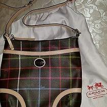 Coach F24387 (Brown) Peyton Tattersall File Crossbody Bag/purse Euc Htf Color Photo