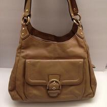 Coach F24686 Campbell Leather Hobo Tan/light Brown/camel Photo