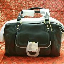 Coach F24690 Campbell Black Leather Satchel Bag Purse Original Retail 378 Photo