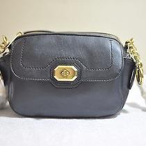 Coach F24843 Black Women Campbell Turnlock Leather Camera Bag Photo