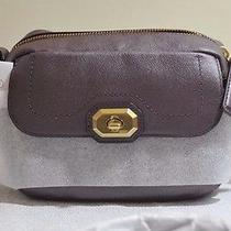 Coach F24843 Plum Women Campbell Turnlock Leather Camera Bag Photo